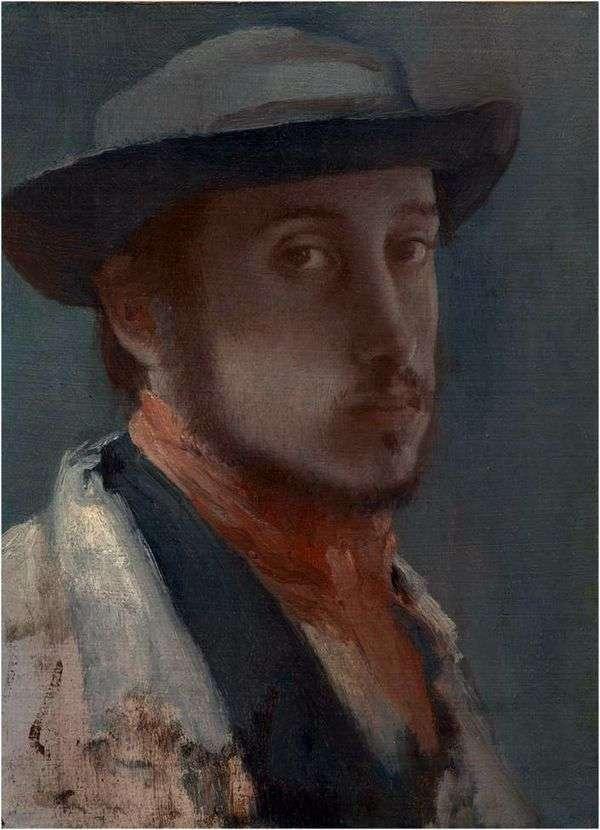 柔らかい帽子の中の自画像   Edgar Degas