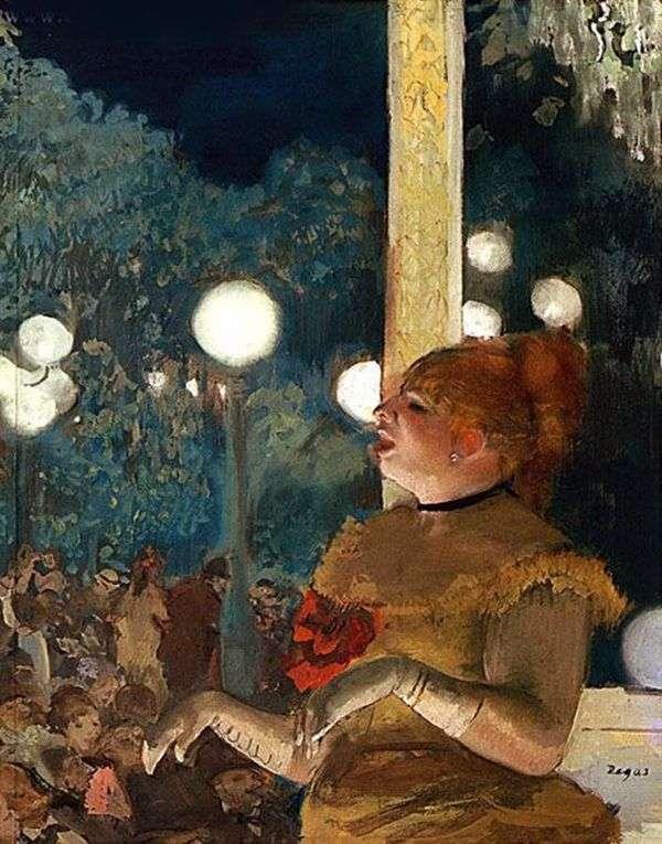 犬のアリアや手袋のついた歌手   Edgar Degas