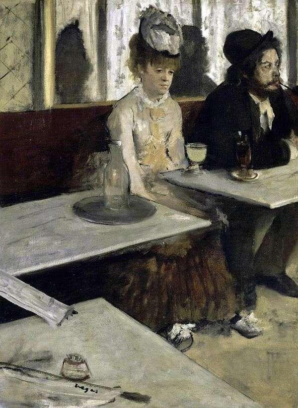 Absinthe lover(カフェの人々)   Edgar Degas
