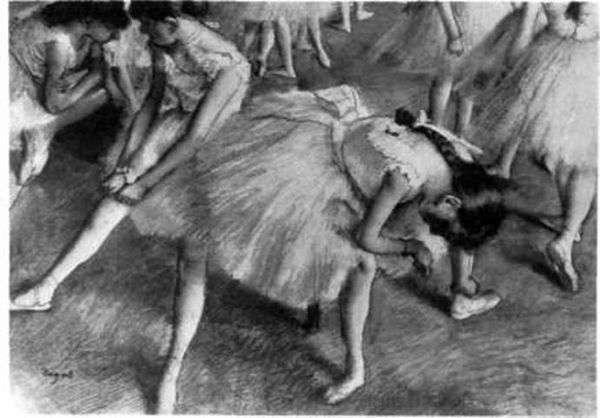 ステージを待っています   Edgar Degas