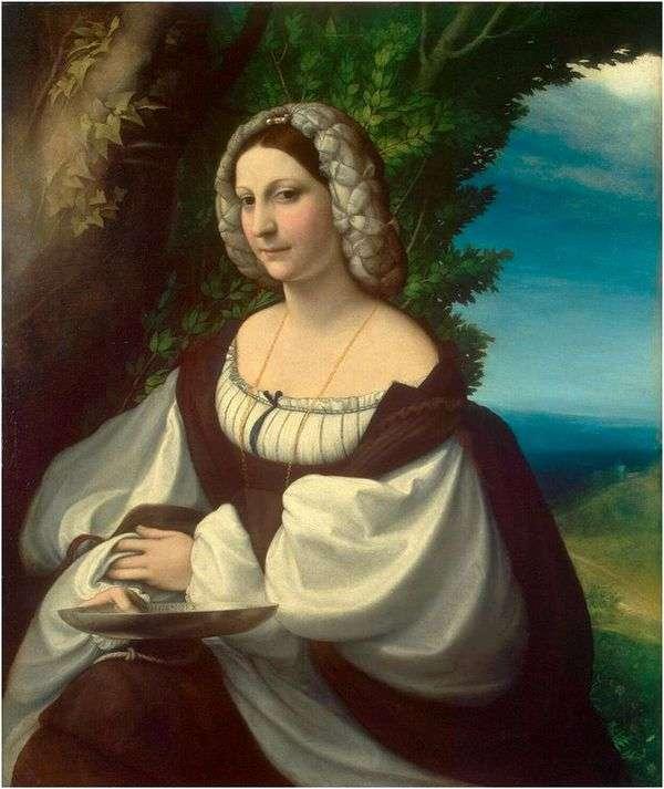 女性の肖像   コレッジョ(Antonio Allegri)