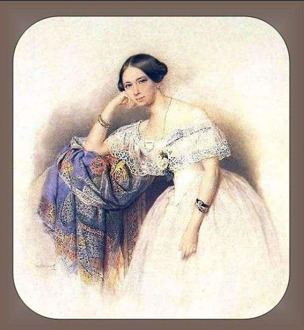 A. S. Glinka Mavrinaの肖像   ピーター・ソコロフ