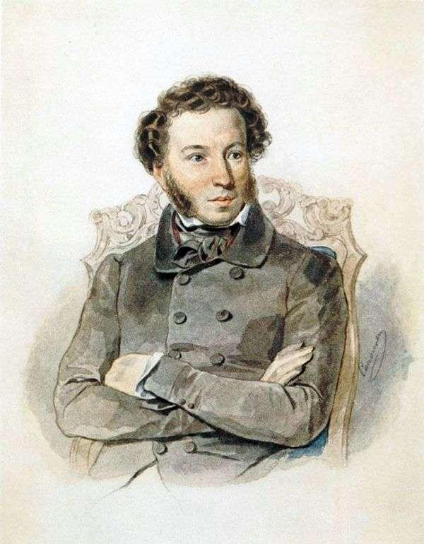 A. S. プーシキンの肖像   Peter Sokolov