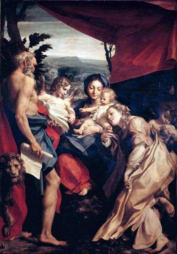聖ジェロームとマドンナ   コレッジョ(Antonio Allegri)