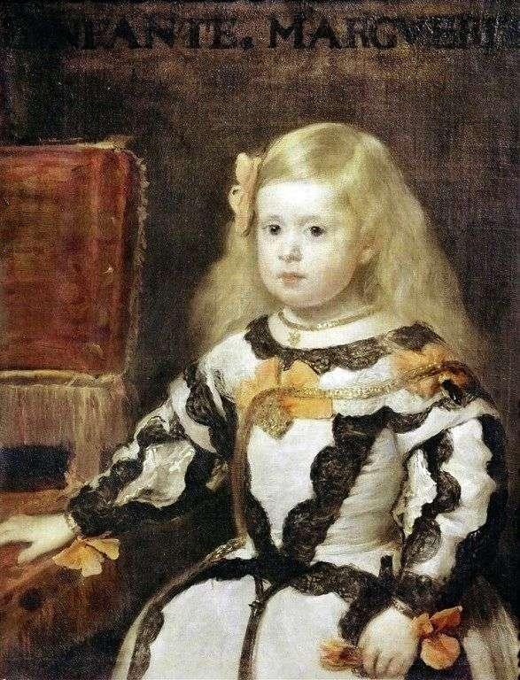 インファンタマリアマルゲリータ、フィリップ4世、スペインの王の娘   ディエゴベラスケス