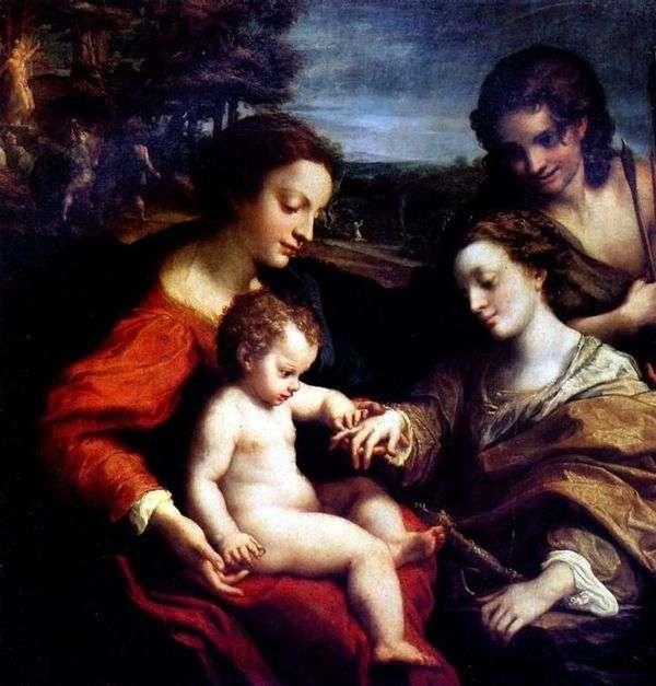 聖キャサリンの神秘的な婚約者   コレッジョ(Antonio Allegri)