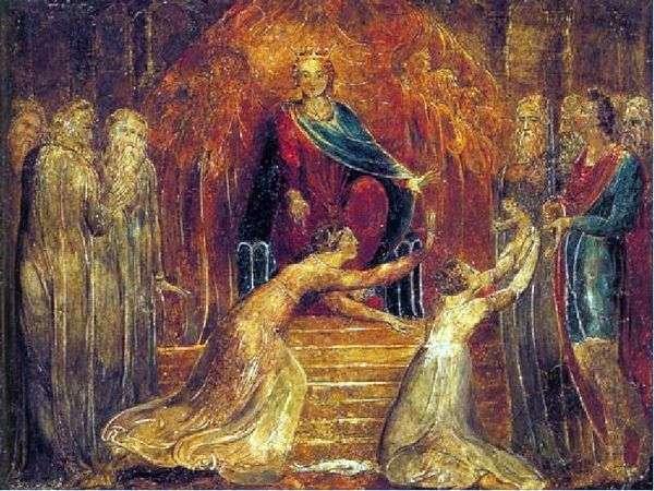 ソロモン王の判断   William Blake