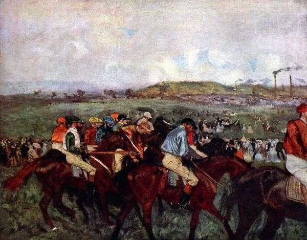レースの紳士:スタートの前に   Edgar Degas