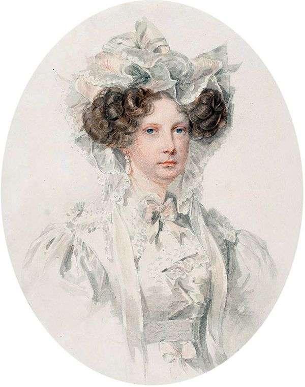 大公妃アレクサンドラ・フェオドロヴナの肖像   Peter Sokolov