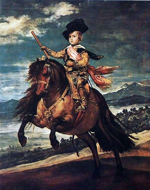 Infanta Balthazar Carlos   Diego Velasquezの馬術肖像