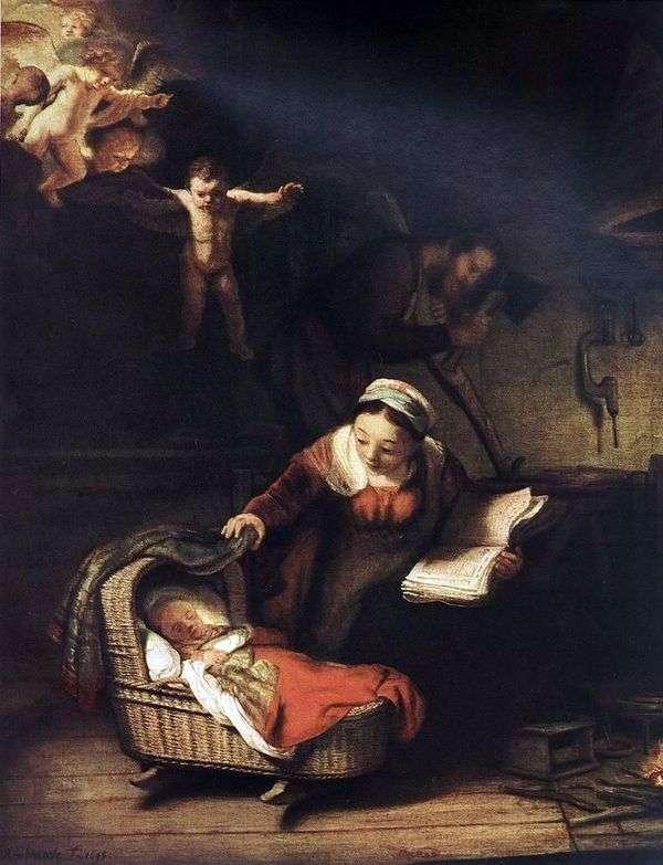 Holy Family and Angels   レンブラントハーメンスヴァンライン