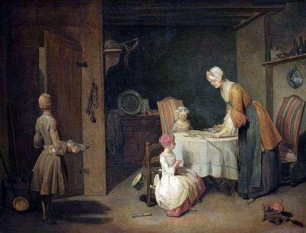 夕食前の祈り   Jean Baptiste Simeon Chardin