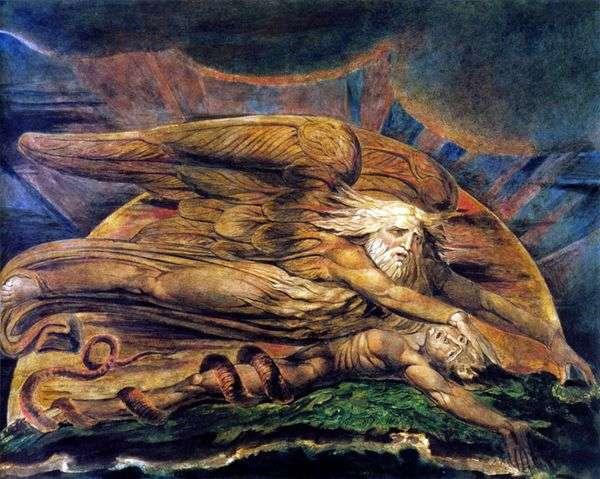 Elohimはアダムを作成します   William Blake