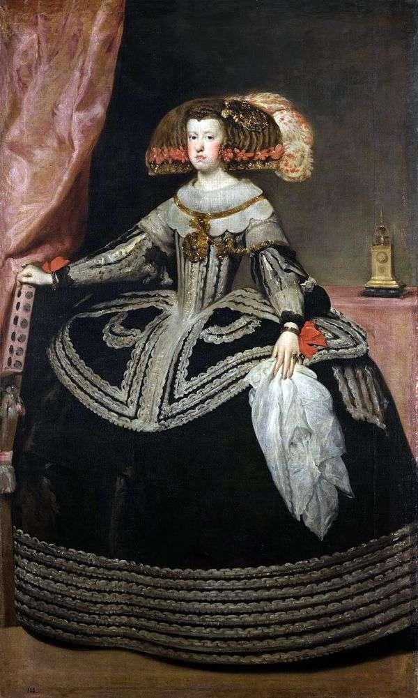 オーストリアの女王マリアアンナ   ディエゴベラスケス