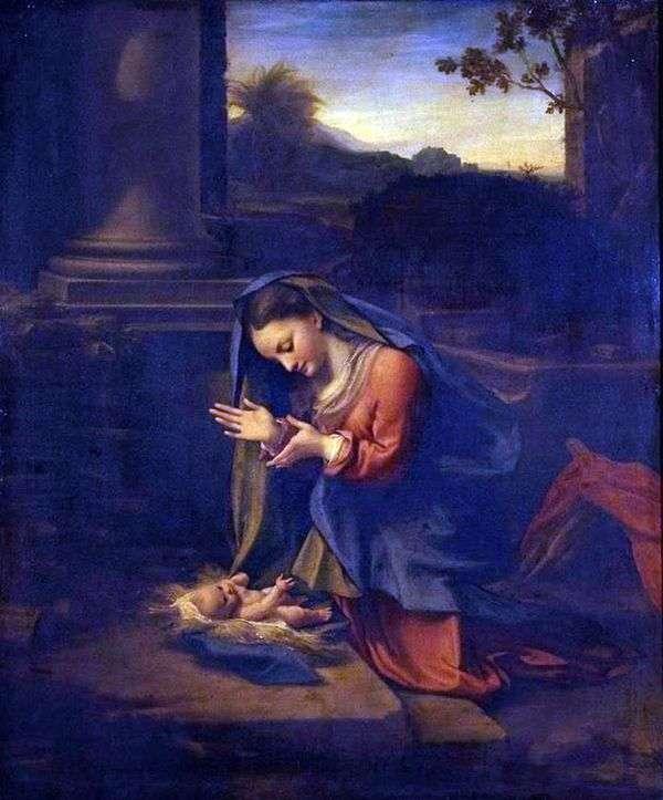 マドンナの幼児への崇拝   コレッジョ(Antonio Allegri)
