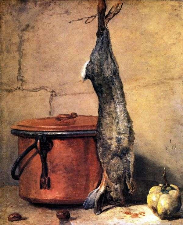 ウサギのある静物   Jean Baptiste Simeon Chardin