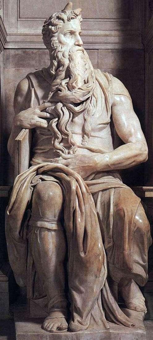 モーセ(彫刻)   ミケランジェロ・ブオナローティ