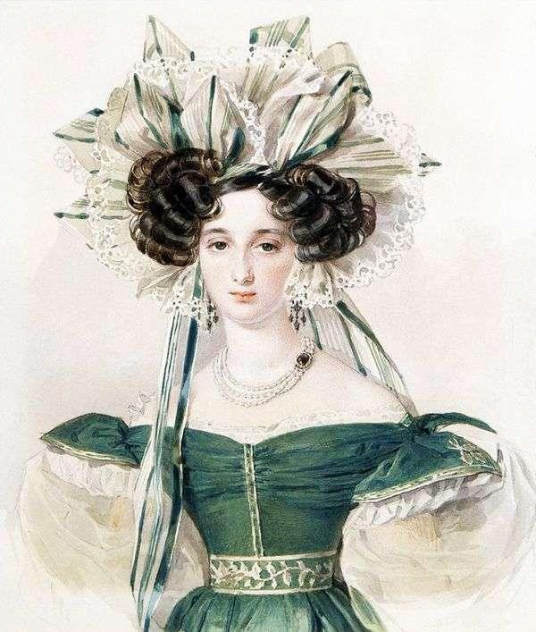 エリザベスKsaverievny Vorontsovaの肖像   Peter Sokolov