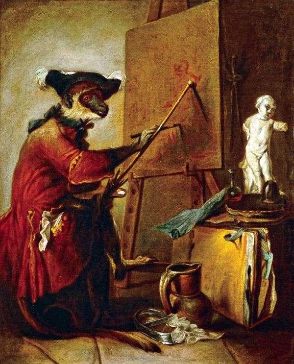 モンキーアーティスト   Jean Baptiste Simeon Chardin