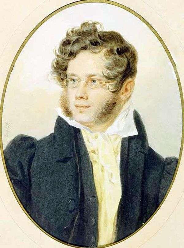 プリンスP. A. Vyazemskyの肖像   ピーター・ソコロフ