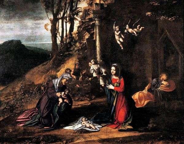 聖とのクリスマス エリザベスと洗礼者ヨハネ   コレッジョ(Antonio Allegri)