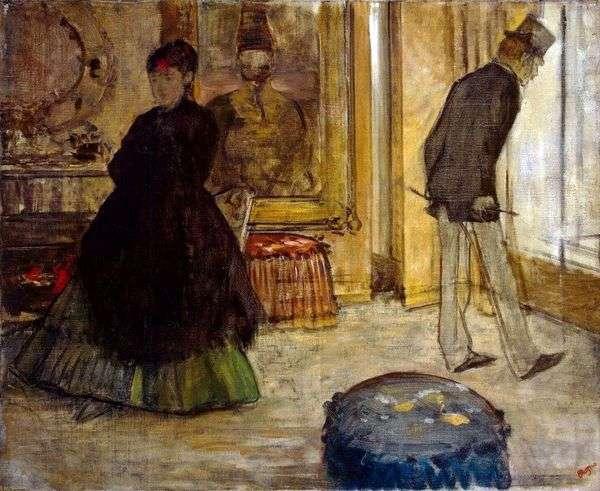 2つの人物とインテリア   Edgar Degas