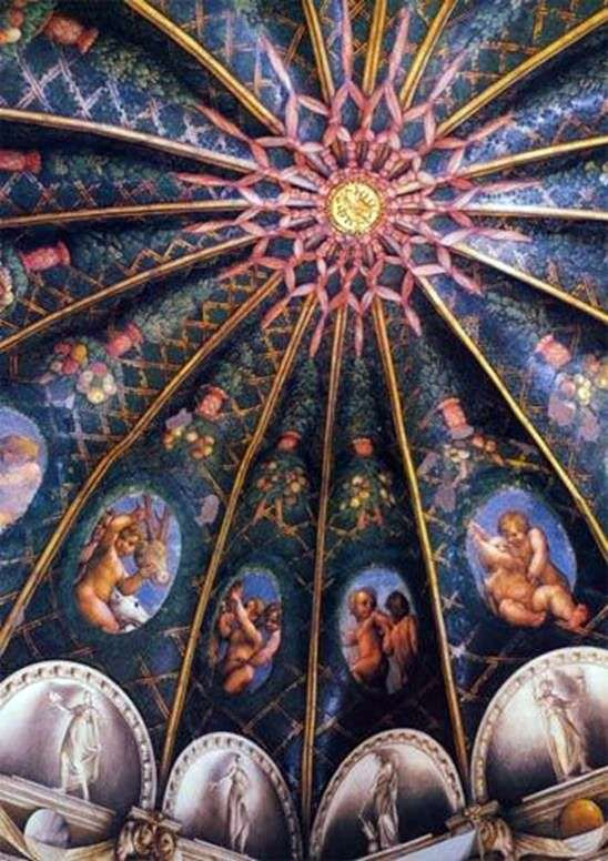 パルマのサンパオロ修道院の壁画   コレッジョ(Antonio Allegri)