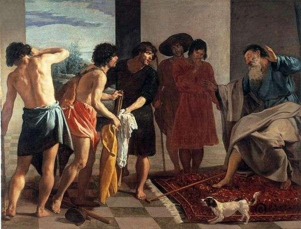 ジョセフの血まみれのマントはヤコブに来た   ディエゴベラスケス