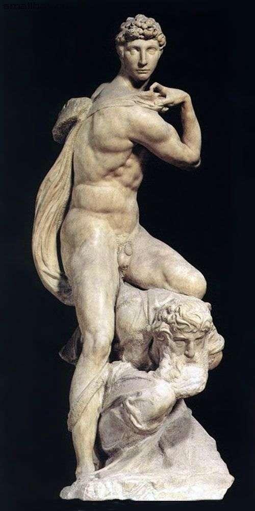 勝利(彫刻)   ミケランジェロ・ブオナローティ