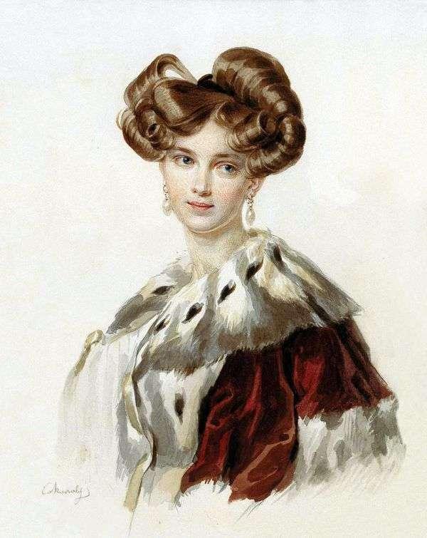 Poletika Idalia Grigorievna   Peter Sokolovの肖像画