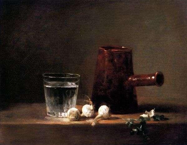 水と水差しのガラス   Jean Baptiste Simeon Chardin