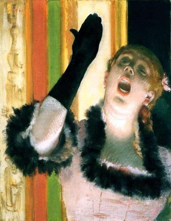 グローブと歌手   Edgar Degas