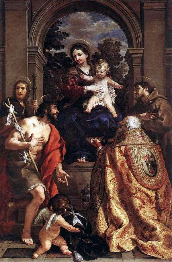 聖人と聖母マリア   ピエトロダコルトーナ