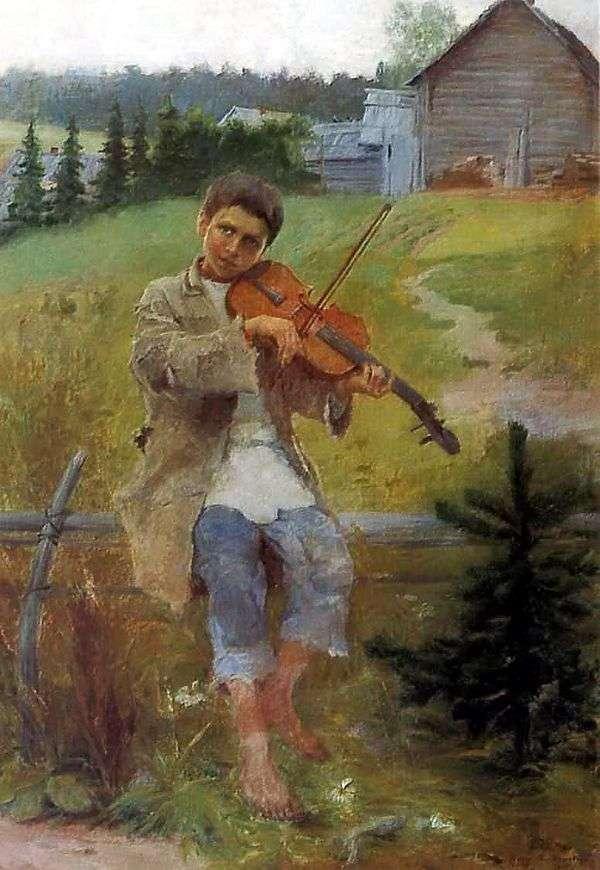 バイオリンを持つ少年   Nikolai Petrovich Bogdanov Belsky