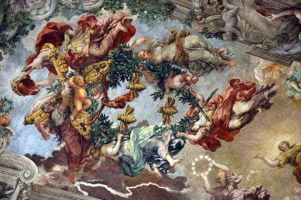 神の摂理の勝利   ピエトロダコルトーナ