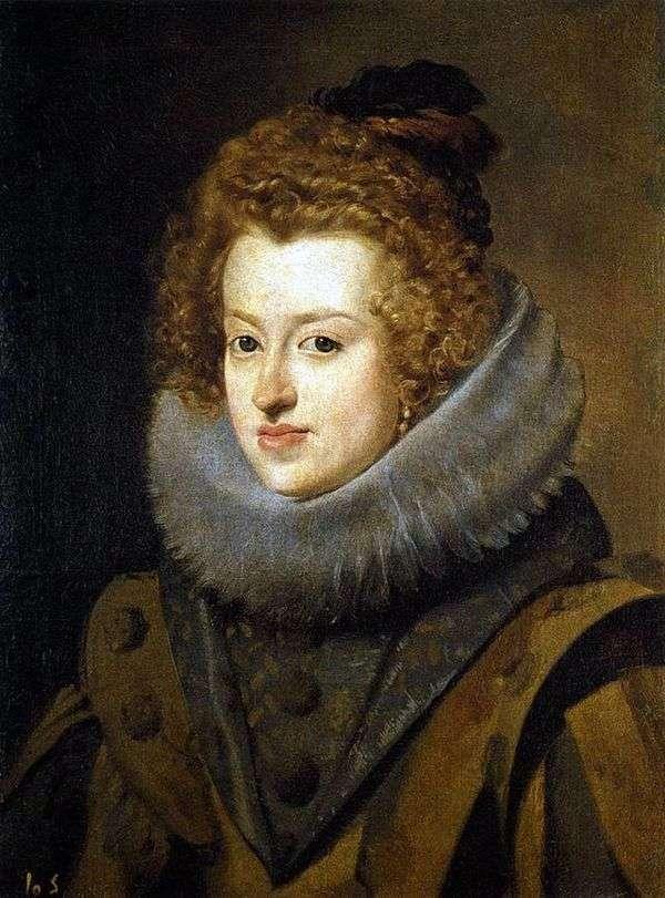 スペインのハンガリーの女王   ディエゴベラスケスのインファンタマリアアンナの肖像