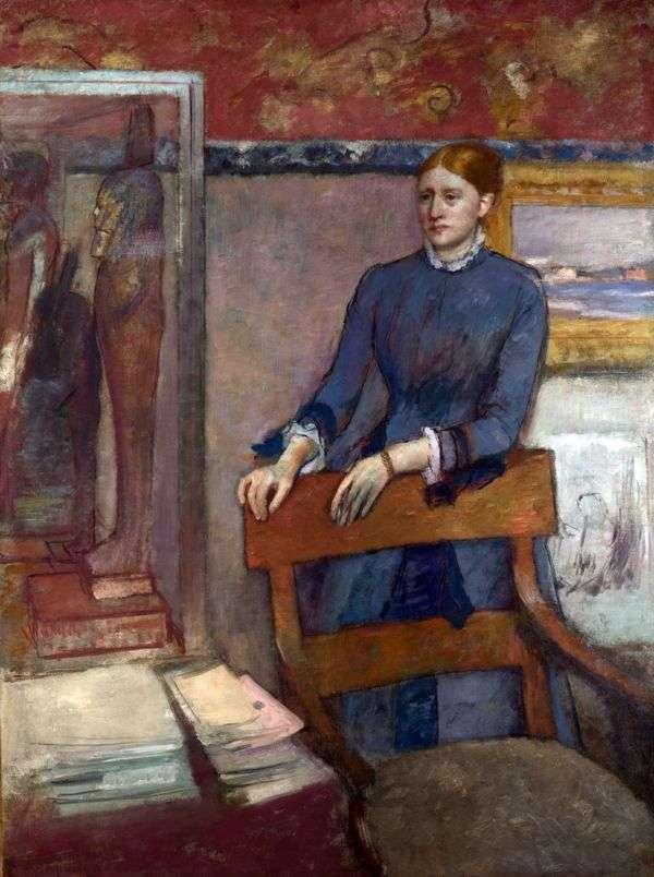 マドモアゼル・ヘレン・ロワールの肖像   エドガー・ドガ