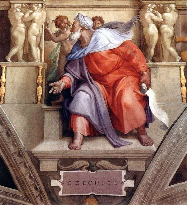 預言者エゼキエル(フレスコ画)   ミケランジェロ・ブオナローティ