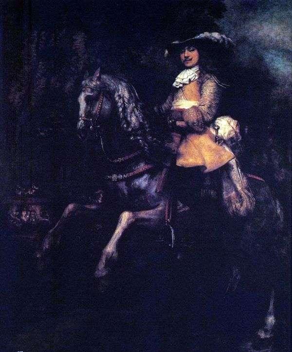 フレデリックリエルの乗馬   レンブラントハーメンスヴァンライン
