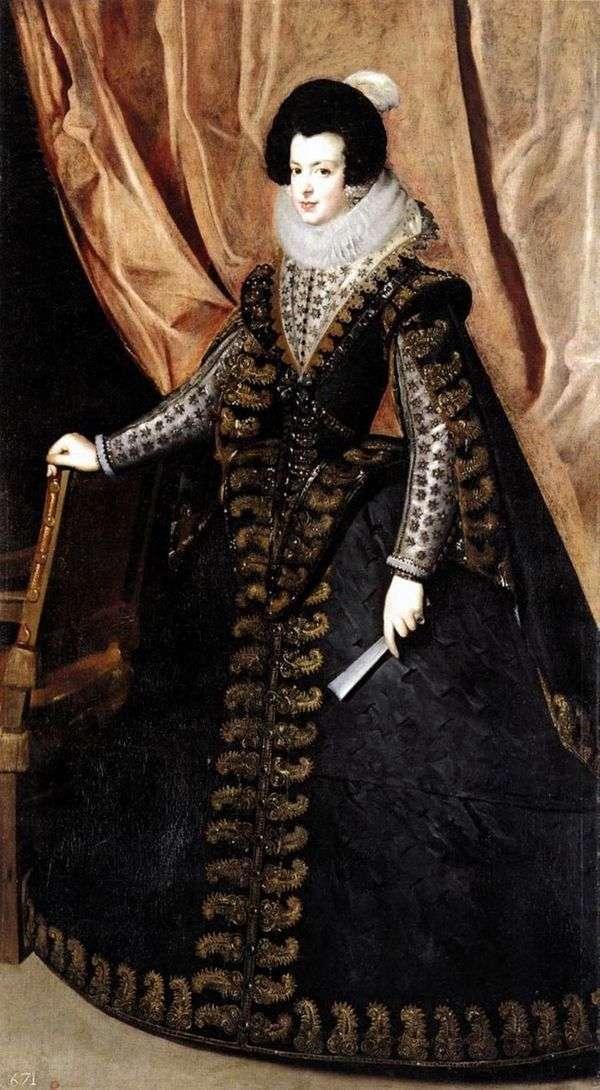 ブルボン   ディエゴベラスケスの女王イザベラの肖像画