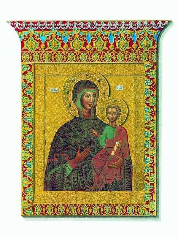 聖なるアイコンOdigitrii Smolensk Our Lady   Fedor Suns