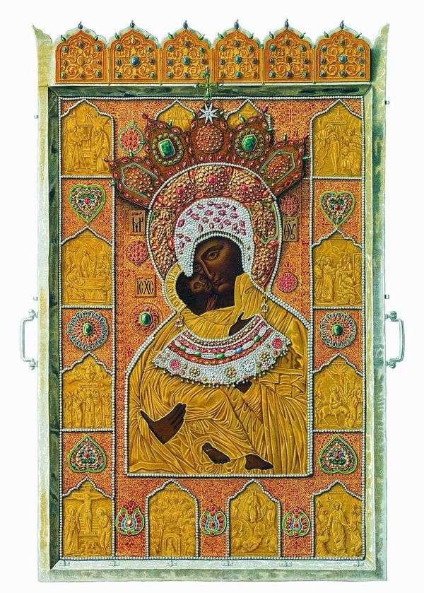 ウラジミール神の母   Fedor Sunsの奇跡的なイメージ