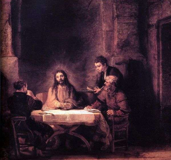 Emmaus   Rembrandt Harmens Van Rhineのキリスト