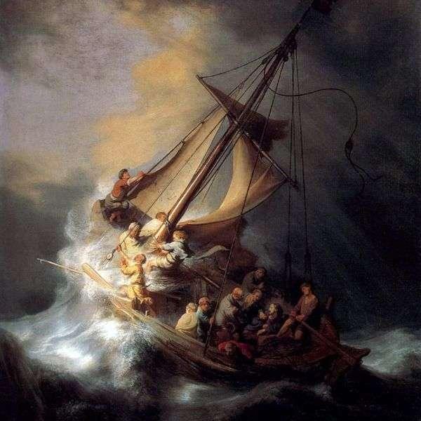 キリストの嵐の中でのシャトル   レンブラント・ハーメンス・ヴァン・ライン