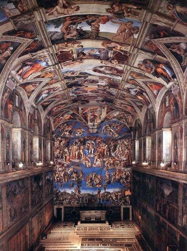 システィーナ礼拝堂   ミケランジェロ・ブアナロッティの内部