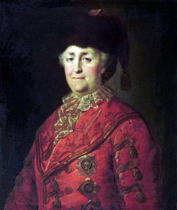 道路上のキャサリン2世の肖像   ミハイル・シバノフ