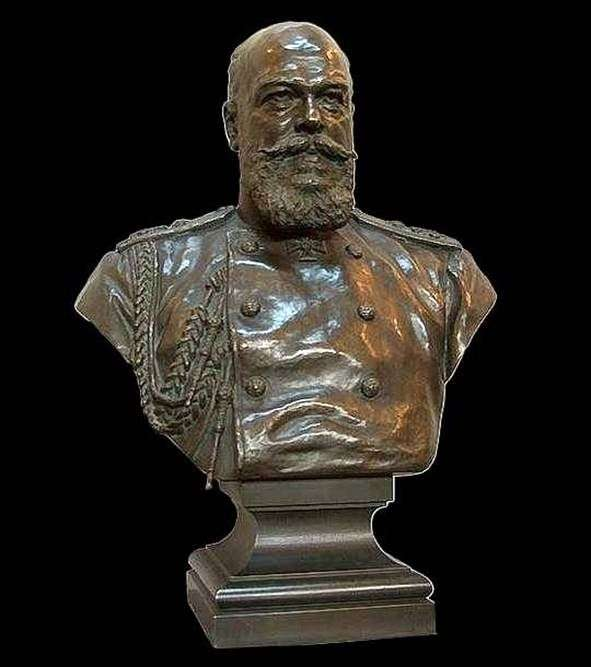 皇帝アレクサンドル3世の胸像   アレクサンドル・ボック