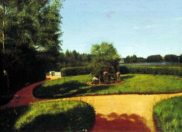 N. P. Milyukovの「島」   グレゴリー・ソロカの不動産の前庭の眺め