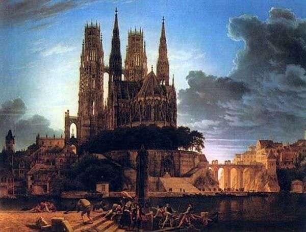 ゴシック様式の大聖堂   カール・フリードリヒ・シンケル