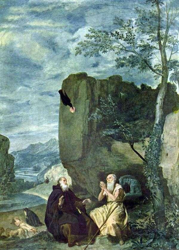 聖人アンソニーとポール   ディエゴベラスケス